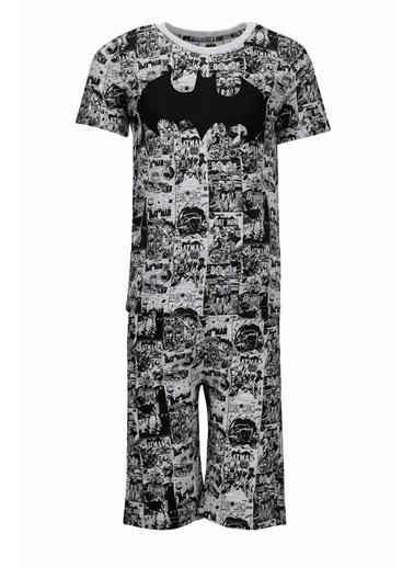 DeFacto Erkek Çocuk Batman Lisanslı Kısa Kol Pijama Takımı Gri